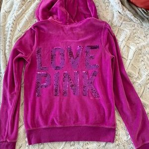 Sequin VS Pink Hoodie